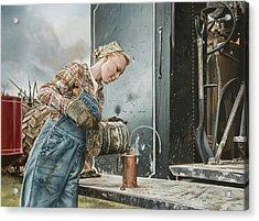 Taffeta Acrylic Print by Lee Alban