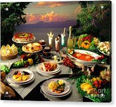 Tahoe Buffet Acrylic Print by Vance Fox
