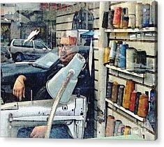 Tailor Shop Acrylic Print by Sarah Loft