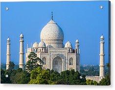 Taj Mahal From A Distance Acrylic Print by Nila Newsom