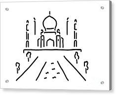 taj mahal India agra Acrylic Print by Lineamentum