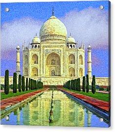 Taj Mahal Morning Acrylic Print by Dominic Piperata