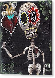 Take My Heart Acrylic Print by  Abril Andrade Griffith