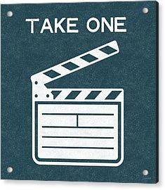 Take One- Art By Linda Woods Acrylic Print by Linda Woods