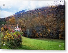 Taking The Scenic Route Acrylic Print by Debra and Dave Vanderlaan