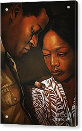 Talk To Me Baby Acrylic Print by Curtis James