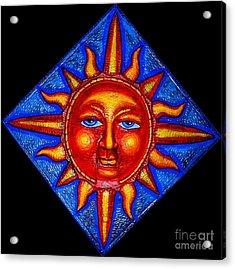 Talking Sun Acrylic Print by Genevieve Esson