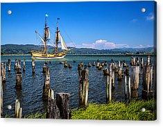 Tall Ship Lady Washington Acrylic Print by Robert Bynum