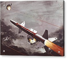 Talos Surface To Air Missile Acrylic Print by American School