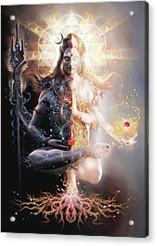 Tantric Marriage Acrylic Print by George Atherton