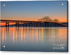 Tappan Zee Bridge After Sunset II Acrylic Print by Clarence Holmes