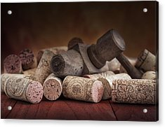Tapped Out - Wine Tap With Corks Acrylic Print by Tom Mc Nemar