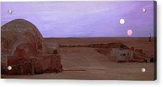 Tatooine Sunset Acrylic Print by Mitch Boyce
