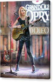 Taylor At The Opry Acrylic Print by Don Olea
