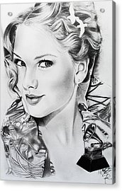 Taylor Swift Acrylic Print by Andrea Realpe