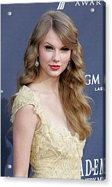 Taylor Swift At Arrivals For Academy Acrylic Print by Everett