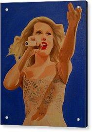 Taylor Swift Acrylic Print by Kristin Wetzel