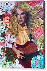 Taylor Swift Acrylic Print by Lauren Penha