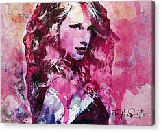 Taylor Swift - Oncore Acrylic Print by Sir Josef Social Critic - ART