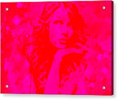 Taylor Swift Paint Splatter 2g Acrylic Print by Brian Reaves