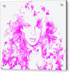 Taylor Swift Paint Splatter 3c Acrylic Print by Brian Reaves