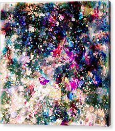 Taylor Swift Paint Splatter Acrylic Print by Brian Reaves