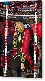Taylor Swift Painting Acrylic Print by Crystal Loppie