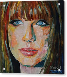 Taylor Swift Portrait Acrylic Print by Robert Yaeger