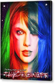Taylor Swift - Sparks Alt Version Acrylic Print by Robert Radmore