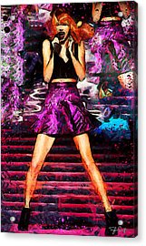 Taylor Swift - Staging Acrylic Print by Sir Josef Social Critic - ART