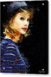 Taylor Swift - The Look Acrylic Print by Sir Josef Social Critic - ART