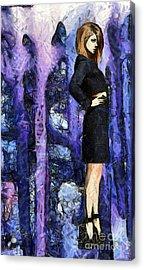 Taylor Swift - The Purple Room Acrylic Print by Sir Josef Social Critic - ART