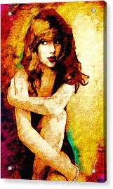 Taylor Swift Acrylic Print by Vya Artist