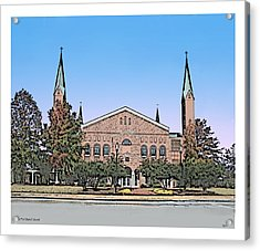 Taylors First Baptist Church Acrylic Print by Greg Joens