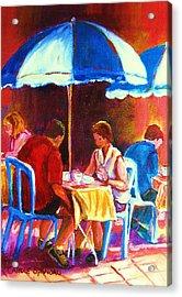 Tea For Two Acrylic Print by Carole Spandau