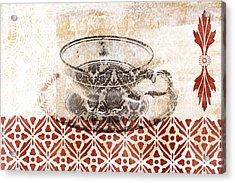 Tea House Acrylic Print by Frank Tschakert