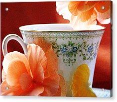 Tea In The Garden Acrylic Print by Angela Davies