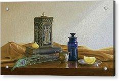 Tea With Lemon Acrylic Print by Barbara Groff
