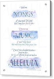 Teach Me B Acrylic Print by Judy Dodds