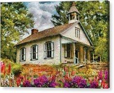 Teacher - The School House Acrylic Print by Mike Savad