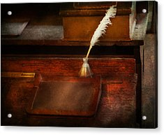 Teacher - The Writing Desk Acrylic Print by Mike Savad