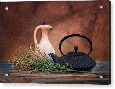 Teapot With Pitcher Still Life Acrylic Print by Tom Mc Nemar