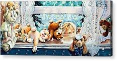 Teddy Tricks Acrylic Print by Hanne Lore Koehler