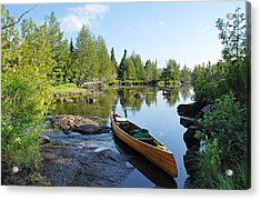 Temperance River Portage Acrylic Print by Larry Ricker