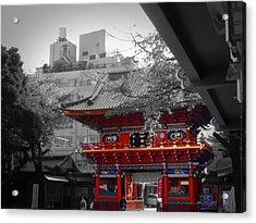 Temple In Tokyo Acrylic Print by Naxart Studio