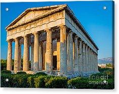 Temple Of Hephaestus Acrylic Print by Inge Johnsson