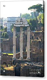 Temple Of Vesta Arch Of Titus. Temple Of Castor And Pollux. Forum Romanum Acrylic Print by Bernard Jaubert