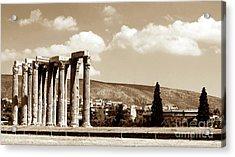 Temple Of Zeus Acrylic Print by John Rizzuto