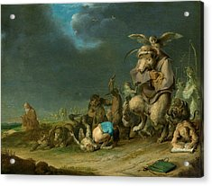 Temptation Of Saint Anthony Acrylic Print by Cornelis Saftleven