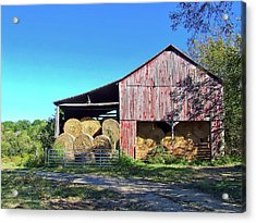 Tennessee Hay Barn Acrylic Print by Richard Gregurich